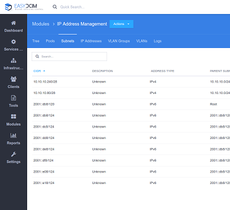 IP Address Management For EasyDCIM - Screenshot 4