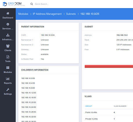 IP Address Management For EasyDCIM - Screenshot 5