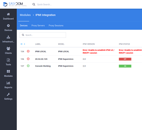 IPMI Integration For EasyDCIM - Screenshot 1