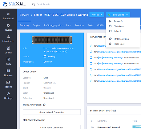 IPMI Integration For EasyDCIM - Screenshot 5