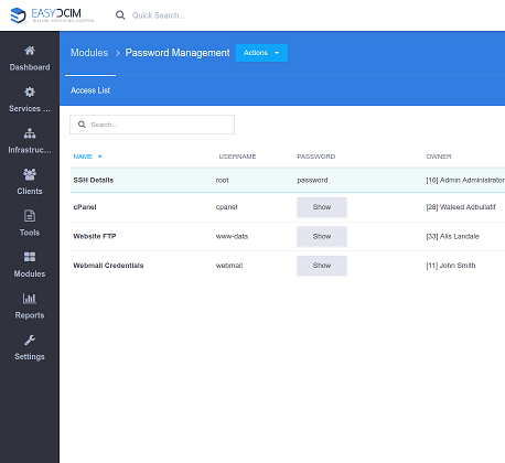 Password Management For EasyDCIM - Screenshot 1