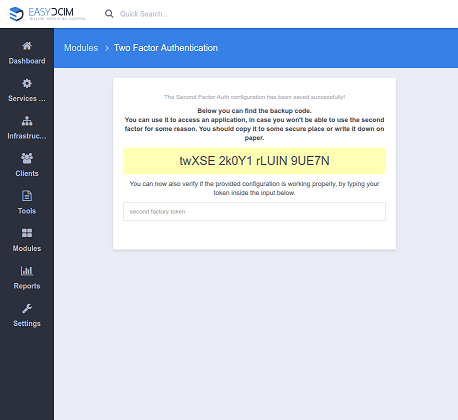 Two-Factor Auth For EasyDCIM - Screenshot 7